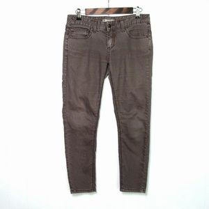 Free People Stretch Brown Gray Skinny Jeans